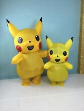 Inflatable Pikachu mascot Costume Pokemon Go Cos game Costumes Adults kids dress