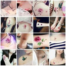 30 Pcs Temporary Tattoos Stickers Waterproof Flower Halloween Fake Tattoos Body