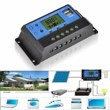 12V/24V Solar Panel Charger Controller Battery Regulator USB LCD Controller HV