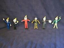 "Vintage Jack In The Box Restaurants 4"" Bendable PVC Toy Figures - Lot of 6 Set A"