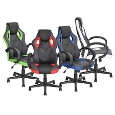 Executive Armrest Office Chair PU Leather Swivel Racing Gaming Computer Chair