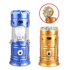 Solar Camping Lantern Rechargeable Outdoor Fan LED Camping Tent Lamp Flashlight