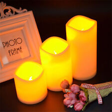 Resin Pillar Flickering Flameless LED Candle Lights With 6 Hours Timer Xmas Deco