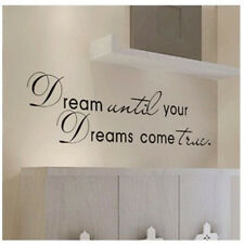 DIY Art Words Quote Vinyl Home Room Decor Wall Decal Stickers Bedroom Removable