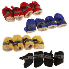2Pairs Cute Pet Dogs Anti-slip Shoes Waterproof Adjustable Boots Warm Rain Gifts