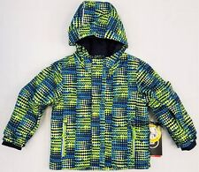 Little Boys' KILLTEC Stripy Mini Insulated Snow Jacket Coat w/ Hood SKY BLUE NEW