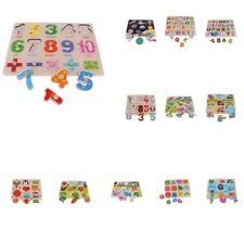 Wooden Peg Puzzle Jigsaw Preschool Early Learning Educational Toy for Children