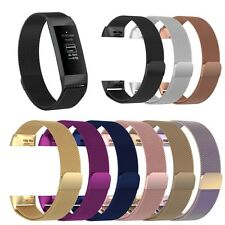 Metal Milanese Magnetic Wristband Strap Watch Band Bracelet for Fitbit Charge 3