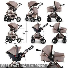 2018 Baby Stroller 3in1 travel system Bassinet Combo Pushchair folding+Car Seat
