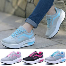 Leather Shoes Gym Wedge 1 Pair Women's Ladies Sport Athletic Casual Sneakers