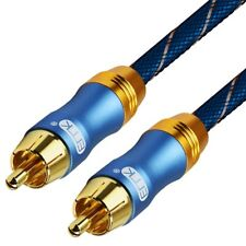 Premium Audio Coaxial Stereo Cable 6.0 RCA To RCA Male Speaker Subwoofer Wire
