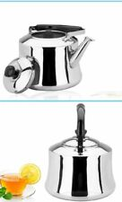 4/5/6L Stainless Steel Hot Water Kettle Pot With Whistle Sound Tea Kettle Silver