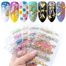 Feather  Banana Rivet Studs Nail Art Alloy Round Triangle  Metal Copper