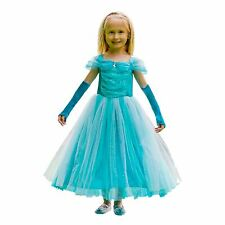 Girls Turquoise Princess Queen Fairy Tale Ice Fancy Dress Costume Kids Book Day