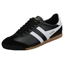 Gola Harrier 50 Womens Black White Leather Trainers