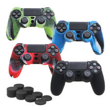 Camouflage Silicone Rubber Skin Grip Cover Case for PlayStation 4 Controller SP