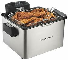 Hamilton Beach Deep Fryer, With Basket 4.5 Liter Oil Capacity, Electric