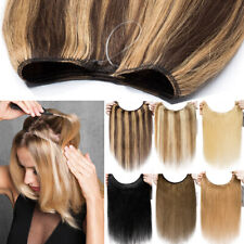 100G THICK One Piece Secret Wire Headband Crown Remy Human Hair Extensions USPS