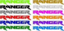 TWO RANGER DECALS  FORD TRUCK SIDE GRAPHICS  PICK SIZE AND COLOR