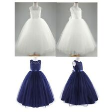 Flower Girl Dresses Princess Bridesmaid Wedding Tulle Dress Pageant Party Gown