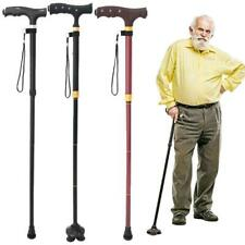Nonslip Folding Walking Stick with Light Height Adjustable Mobility Aids Cane