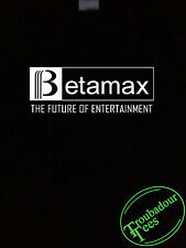 BetaMax T-Shirt Beta Max Funny Vintage Retro Geek 70s 80s Tee Fun Tech Black