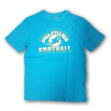"""Miami Dolphins NFL Men's Turquoise Short Sleeve T-shirt """"Dolphins Football"""""""