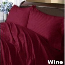 Special Price Soft Bedding Items 1000TC 100%Egyptian Cotton Striped Wine US Size