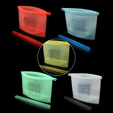 Reusable Silicone Food Preservation Bags Airtight Seal Storage Fresh Food Keeper