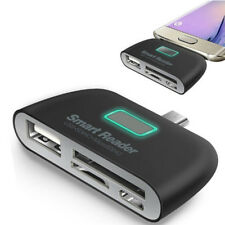 4 in 1 OTG/TF/SD Smart Type-C Card Reader Adapter Micro USB Charge Ports neKH