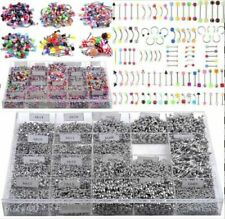 Wholesale Bulk 105Pc Body Piercing Eyebrow Jewelry Belly Tongue Bar Ring Jewelry