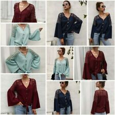 Knit Shirt Pullover Casual Womens Tops Loose T-Shirt Knitted Sweater Jumper