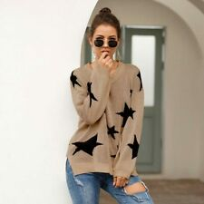 Pullover Jumper Sweater Knitted Knit Shirt Long Sleeve T-Shirt Loose Womens