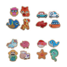 Multi-style Wooden Jigsaw Animal Puzzle Toys Toddler Educational Learning