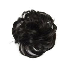 Easy to Wear Real Thick Curly Messy Bun Hair Piece Scrunchie Hair Extension R9M9