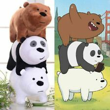 We Bare Bears Panda Plush Doll Animal Cute Grizzly Ice Bear Lying Plush Doll Toy