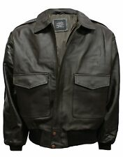 A-2 LEATHER AIR-FORCE FLIGHT BOMBER JACKET S-3XL