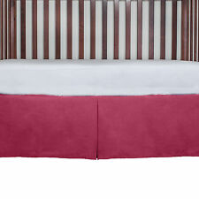 """Baby bed Nursery Crib Tailored Dust Ruffle Bed Skirt 21"""" Drop New"""
