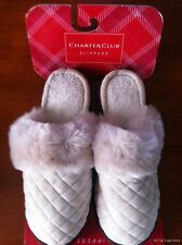 New! Charter Club Slippers Plush w/Low Heel  NWT