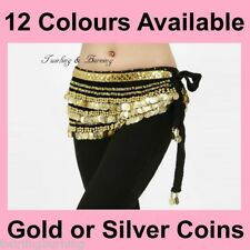【338 Coins】Belly Dance Belt Heavy & Loud Hip Scarf Skirt Wrap Dancing AB02