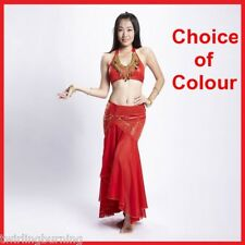 Belly Dance Top/Bra+Skirt Beaded Dancing Costume/Outfit