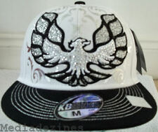 NEW BLING HIP HOP WHITE EAGLE FITTED BASEBALL HATS CAPS