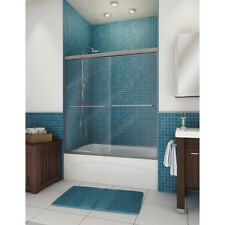 """Bath Tub & Shower By-Pass Sliding Door Frameless 45""""-59.5"""" Wide *Fast Delivery*"""