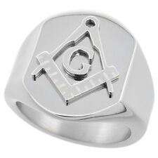 Stainless Steel MASONIC SIGNET RING sizes  8-14  #rss402