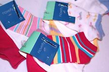Girls Greendog 9 pairs Assorted Mix Ankle Socks S 6 - 7.5 New NWT Free Ship