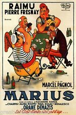 MARIUS RAIMU FRENCH FILM MEN PLAYING CARDS GAME MOVIE VINTAGE POSTER REPRO