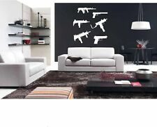 6 guns vinyl wall decal Low Low Prices!!