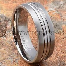 Titanium Mens Wedding Ring Matte Dome Band Womens Bridal Jewelry Size 6-13