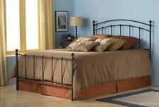 Sanford Fashion Bed with Frame, Matte Black Finish