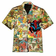 The Amazing Spider-Man Hawaiian Camp Shirt - Brand New - Clearance Sale!